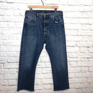 Levis 501  Original Fit Raw Hem Jeans